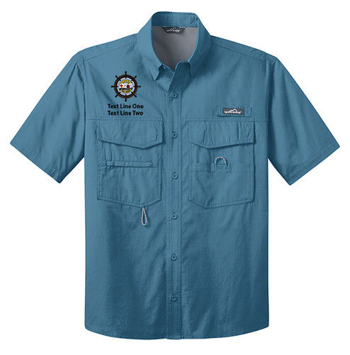 Eddie Bauer® – Short Sleeve Fishing Shirt  with Sea Base Logo