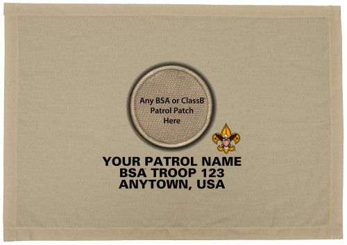 Scouts BSA Patrol Patch Flag with spot for Custom Patrol Patch