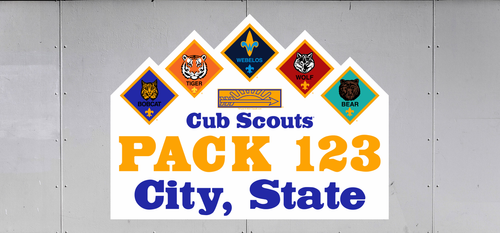 Cub Scout Pack Trailer Graphic With Cub Scout Pack Ranks Design