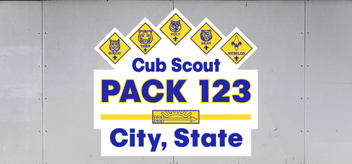 Cub Scout Pack Trailer Graphic With Cub Scout Ranks and Cub Scout Arrow of Light Design