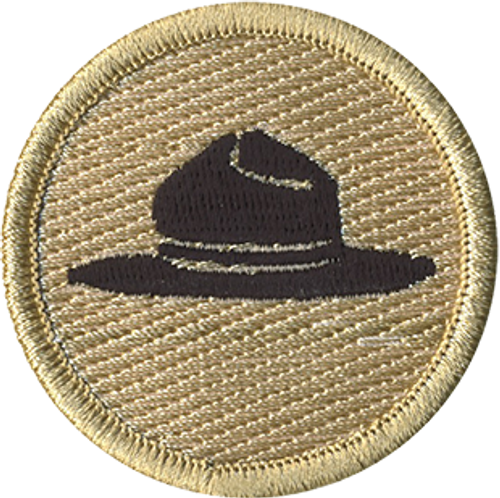 Ranger Hat Scout Patrol Patch - embroidered 2 inch round