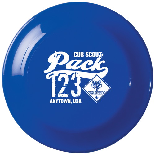 Cub Scout Pack Frisbee with Cub Scout Logo - Royal
