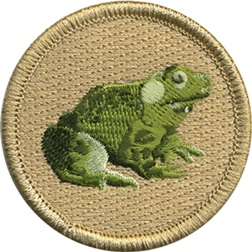 Bullfrog Scout Patrol Patch - embroidered 2 inch round