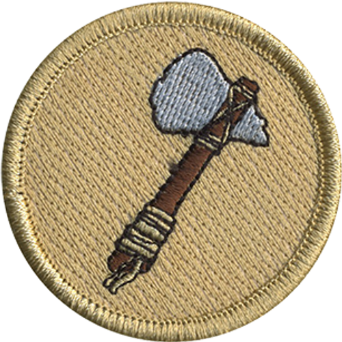Tomahawk Scout Patrol Patch - embroidered 2 inch round
