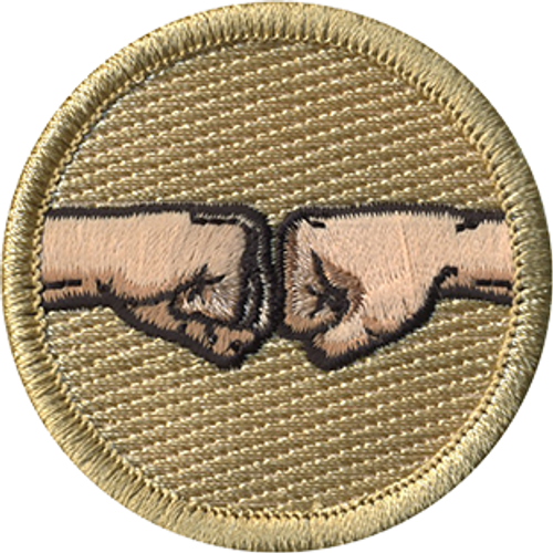 WeBros Fist Pump Scout Patrol Patch - embroidered 2 inch round