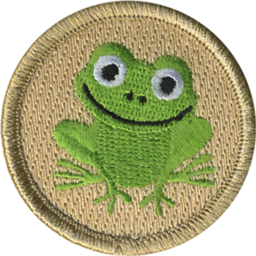Smiling Frog Scout Patrol Patch - embroidered 2 inch round