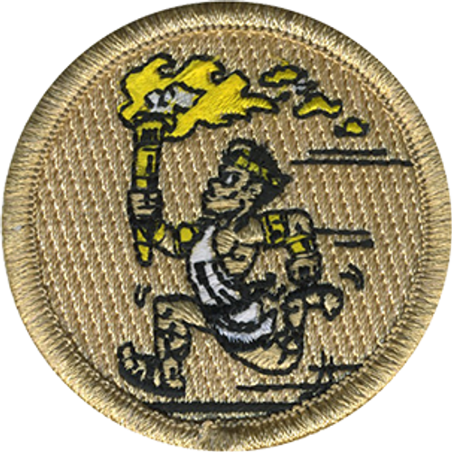 Golden Olympian Scout Patrol Patch - embroidered 2 inch round