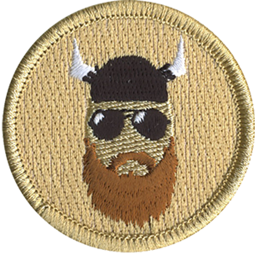 Bearded Yahoo Scout Patrol Patch - embroidered 2 inch round