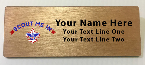 Scout Me In Corporate Logo Wooden Name Tag