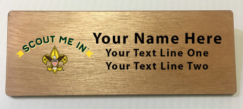 Scouts BSA Troop Name Tag with Scout Me In Logo