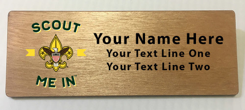 Scout Me In Large Universal Logo Wooden Name Tag