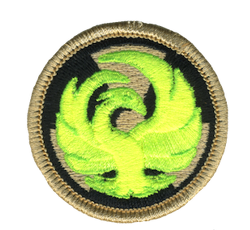 Radioactive Phoenix Scout Patrol Patch - embroidered 2 inch round
