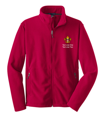 Scouts BSA Red Fleece Jacket with BSA Universal Logo