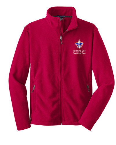Scouts BSA Red Fleece Jacket with BSA Corporate Logo