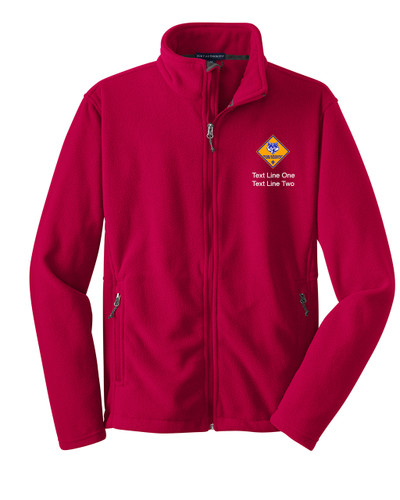 Scouts BSA Red Fleece Jacket with Cub Scout Logo