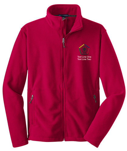 Scouts BSA Red Fleece Jacket with BSA Wood Badge Logo