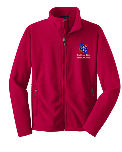 Scouts BSA Red Fleece Jacket with BSA NYLT Logo