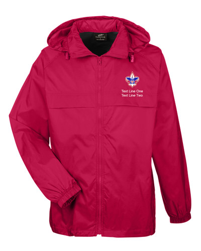 Scouts BSA Red Hooded Jacket with BSA Corporate Logo