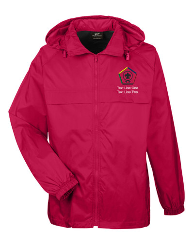 Scouts BSA Red Hooded Jacket with BSA Wood Badge Logo