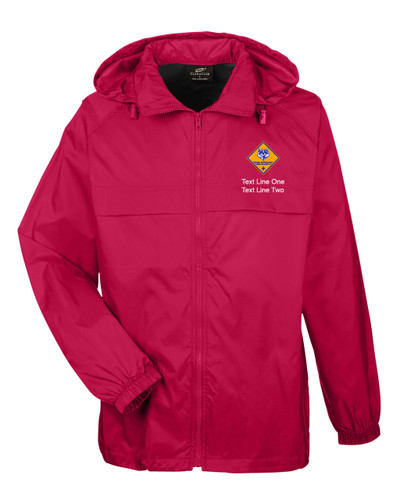 Scouts BSA Red Hooded Jacket with Cub Scout Logo