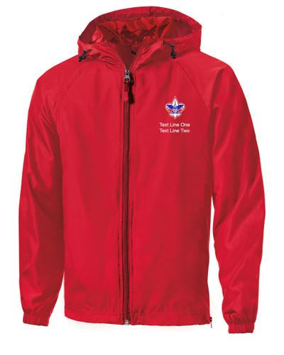 Scouts BSA Red Sport Tek Jacket with BSA Corporate Logo