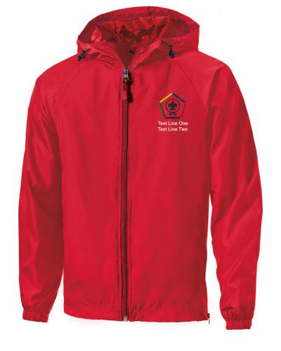 Scouts BSA Red Sport Tek Jacket with BSA Wood Badge Logo