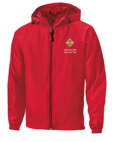 Scouts BSA Red Sport Tek Jacket with Cub Scout Logo