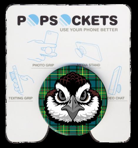 Wood Badge Popsocket of Wood Badge Bobwhite Critter on Wood Badge Tartan Background