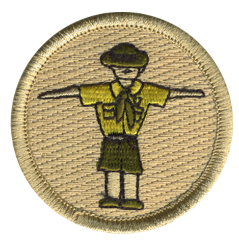 T Pose Scout Patrol Patch - embroidered 2 inch round