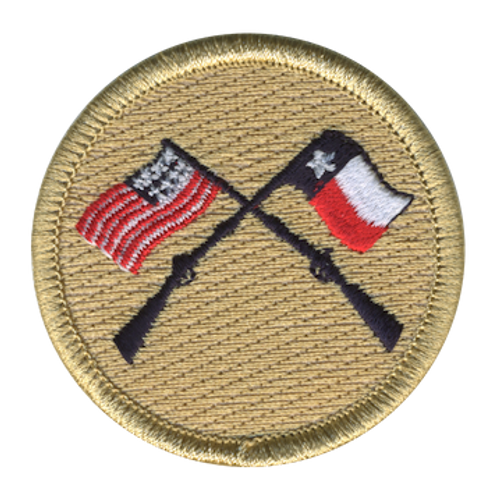 The Musket Scout Patrol Patch - embroidered 2 inch round