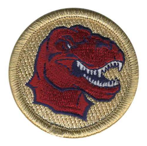 Red Raptor Scout Patrol Patch - embroidered 2 inch round
