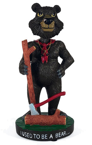 Wood Badge Bobblehead of Wood Badge Bear- Front View