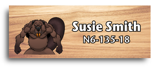 Wood Badge Name Tag with Wood Badge Beaver Critter