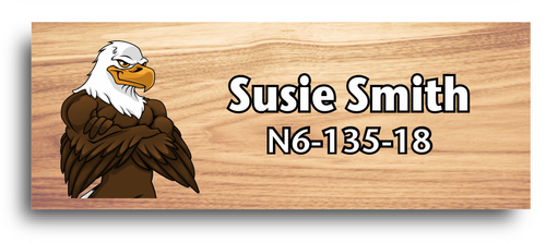 Wood Badge Name Tag with Wood Badge Eagle Critter