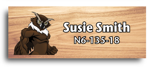 Wood Badge Name Tag with Wood Badge Owl Critter