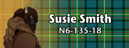 Wood Badge Tough Buffalo Tartan Starburst Name Tag