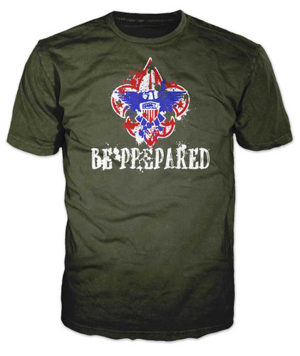 Scouts BSA Graphic Tee With Be Prepared Design