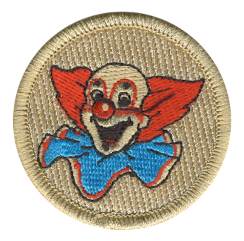 Clown Scout Patrol Patch - embroidered 2 inch round