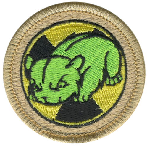 Atomic Hamster Scout Patrol Patch - embroidered 2 inch round