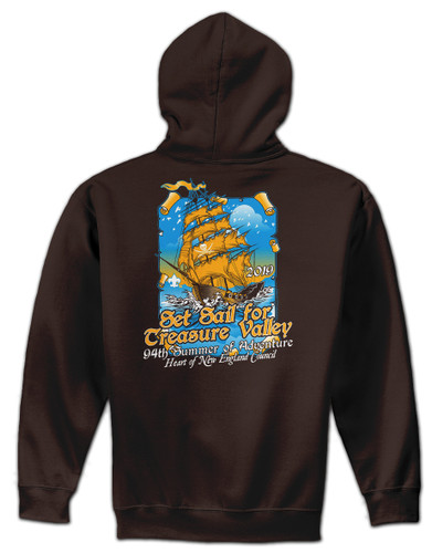 50/50 Zip Hooded Sweatshirt - Treasure Valley Scout Reservation 2019