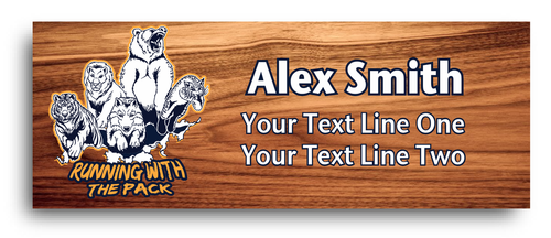Cub Scout Pack Name Tag with Cub Scout Ranks