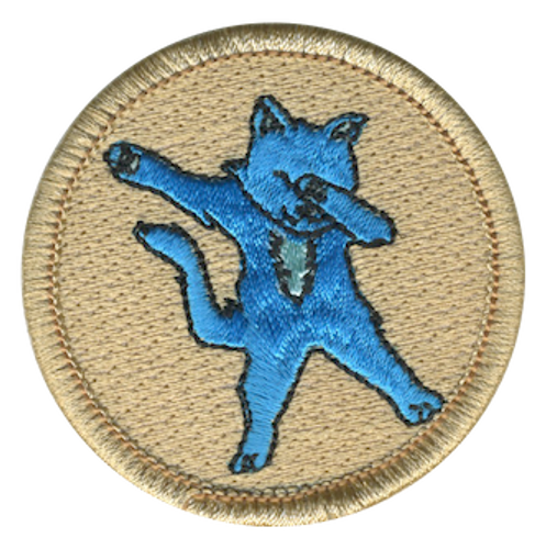 Dab Cat Scout Patrol Patch - embroidered 2 inch round