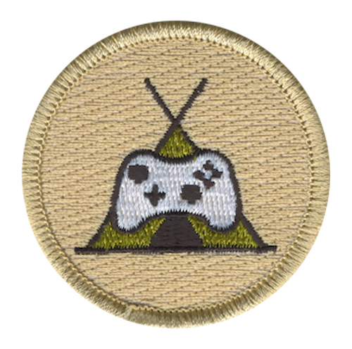 Camp Gamers Scout Patrol Patch - embroidered 2 inch round