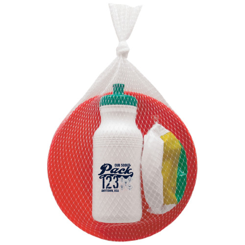 Cub Scout Pack Fun Bundle with Sport Bottle, Frisbee, and Beach Ball with Cub Scout Logo