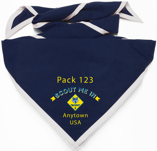 Scout Me In Arched Cub Scout Logo Digitally Printed Neckerchief (SP7547)