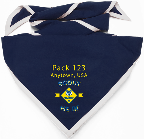 Scout Me In Vertical Cub Scout Logo Digitally Printed Neckerchief (SP7547)