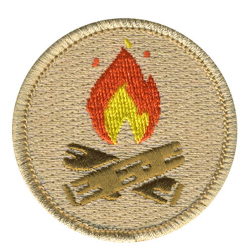 Camp Fire Scout Patrol Patch - embroidered 2 inch round