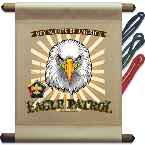 Wood Badge Mini Flag of Wood Badge Eagle with Wood Badge Logo