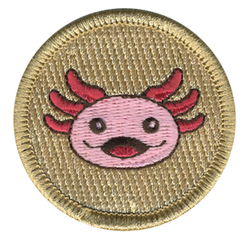 Axolotl Scout Patrol Patch - embroidered 2 inch round