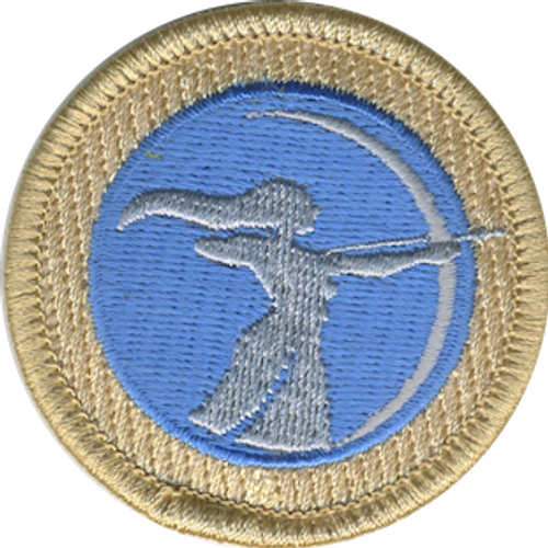 Artemis Silhouette Scout Patrol Patch - embroidered 2 inch round